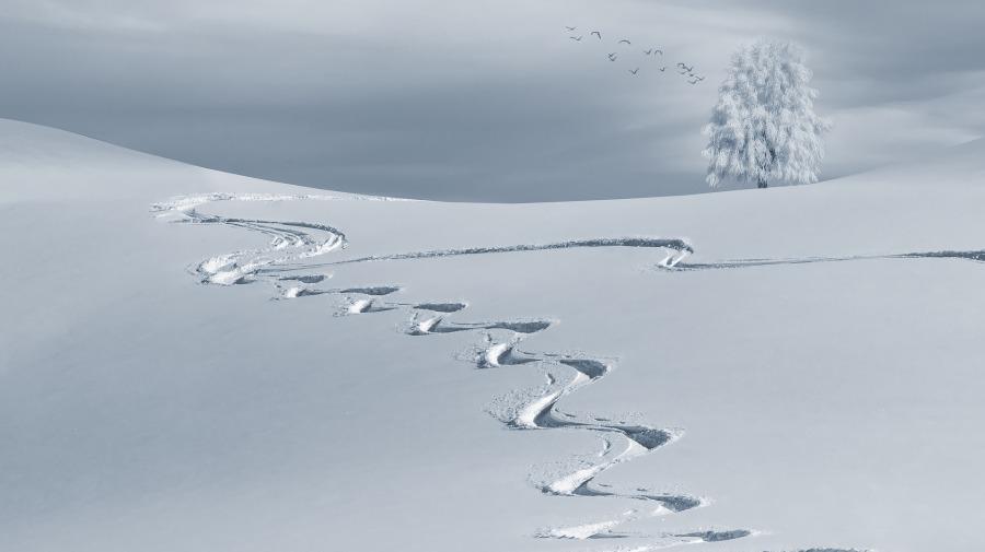 neige hivernal / Pixabay